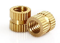 Brass Knurled Threaded Insert Embedded Nuts