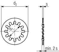 DIN 6797J technical drawing