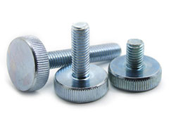 Flat Knurled Thumb Screws