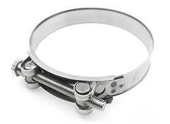 Single Bolt European Style Hose Clamp