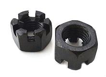hex slot nuts black oxide