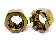 hex slot nuts zinc plated